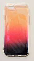 Чехол на Айфон 6/6s Пластик и Силикон под углом блестит Градиент Прозрачный, фото 1