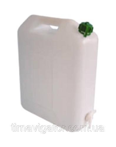 Бачок для питьевой воды 20л. плоский, с краником на корпусе (пластик)