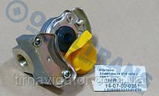 Пневмосоединение М16 (без клапана, жёлтое)