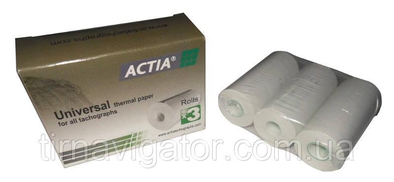 Термобумага для цифровых тахографов ACTIA