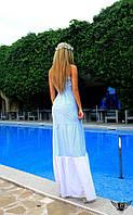 Платье в пол с открытыми плечами Цвета: