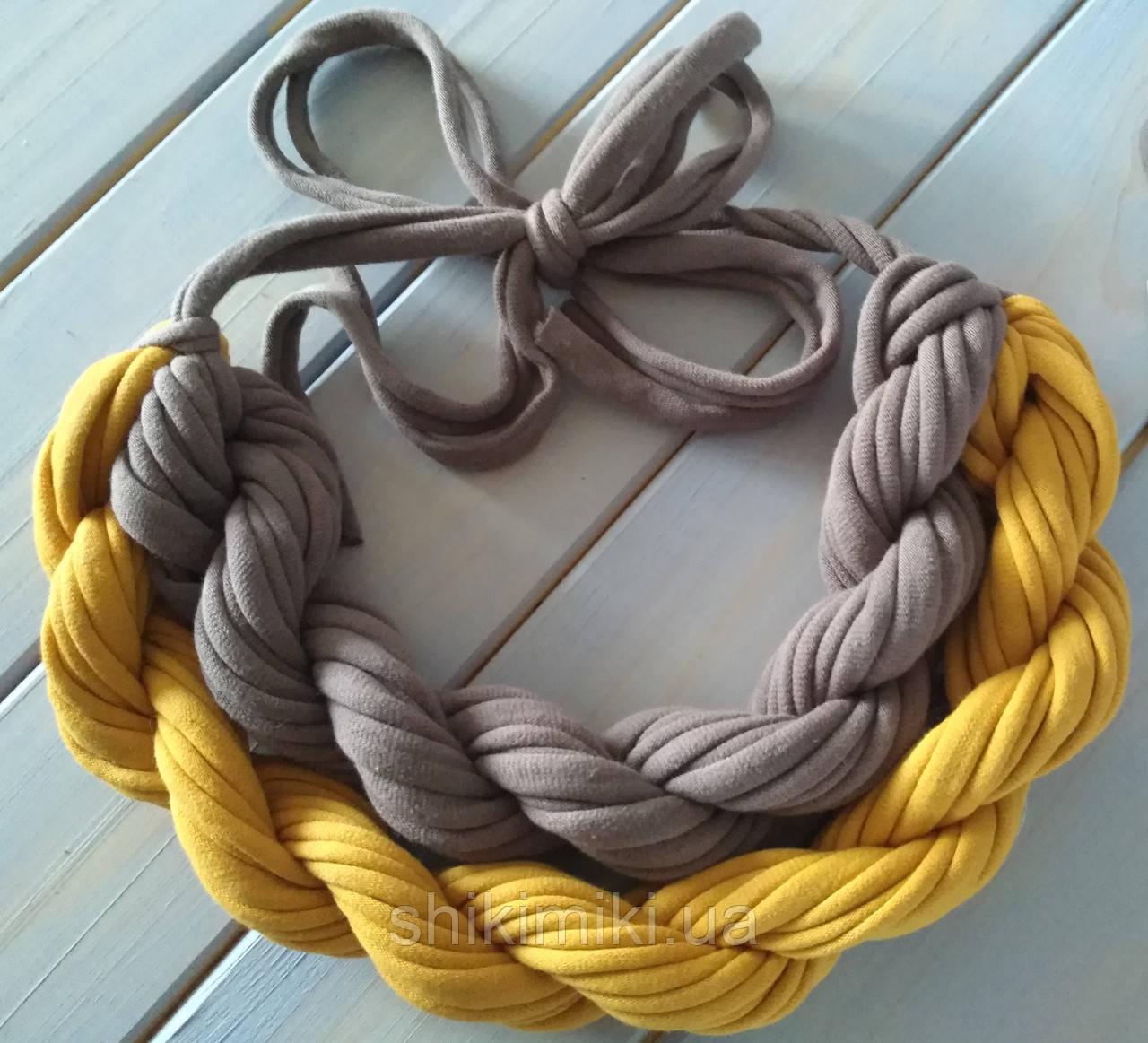 Колье женское вязаное из трикотажной пряжи Моне