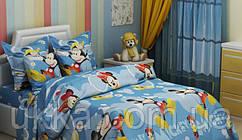 Детское постельное белье полуторное Микки и Мини комплект подростковый