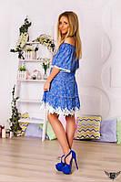 Коротенькое платье с кружевом и открытыми плечами лён летнее платье лён Цвета: