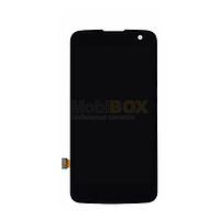 Дисплей для LG K120E K4/K130E + touchscreen. черный. оригинал (Китай)