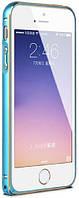 Бампер для iPhone 5/5s/SE Metal Slim, Blue-Gold