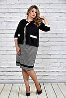 Черный жакет 0310-4 (платье 0306-3 отдельно)