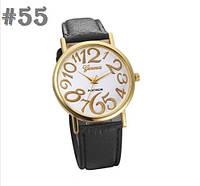 Женские часы с черным ремешком Geneva (55)
