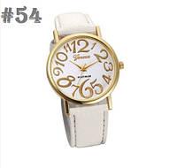 Женские часы с белым ремешком Geneva (54)
