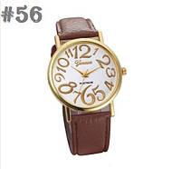Женские часы с ремешком коричневого цвета Geneva (56)