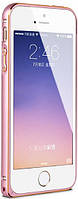 Бампер для iPhone 5/5s/SE Metal Slim, Pink-Gold