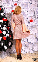 Коротенькое платье с широким рукавом Цвета: