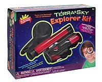 Набор исследователя 3в1 Телескоп, микроскоп и увеличительное стекло Scientific Explorer Terra Sky Explorer Kit