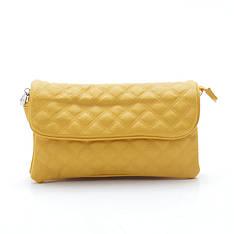 Женская стеганая сумка-клатч через плечо Fashion 8844 v.2 yellow желтый