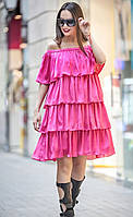 Женское летнее платье с рюшами Bianka (разные цвета)