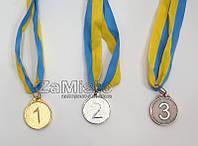 Медаль спортивная (1, 2, 3 место) малая