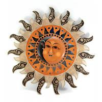 "Зеркало мозаичное ""Солнце и Луна"" (d-50 cм)"