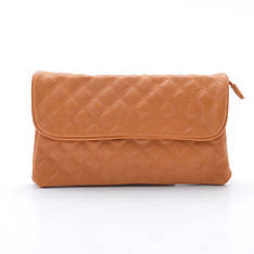 Женская стеганая сумка-клатч через плечо Fashion 8844 v.2 orange оранжевый