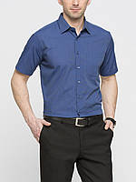 Мужская рубашка LC Waikiki / ЛС Вайкики с коротким рукавом синего цвета