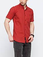 Мужская рубашка LC Waikiki с коротким рукавом красного цвета