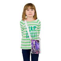 Белая сумочка для девочки Little princess с принтом Монстер Хай