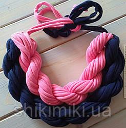 Колье женское вязаное из трикотажной пряжи Верона