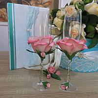 """Свадебные бокалы """"Роза"""""""