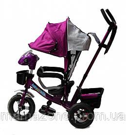 Детский трехколесный велосипед Baby trike CT-60, надувные колеса,фиолетовый