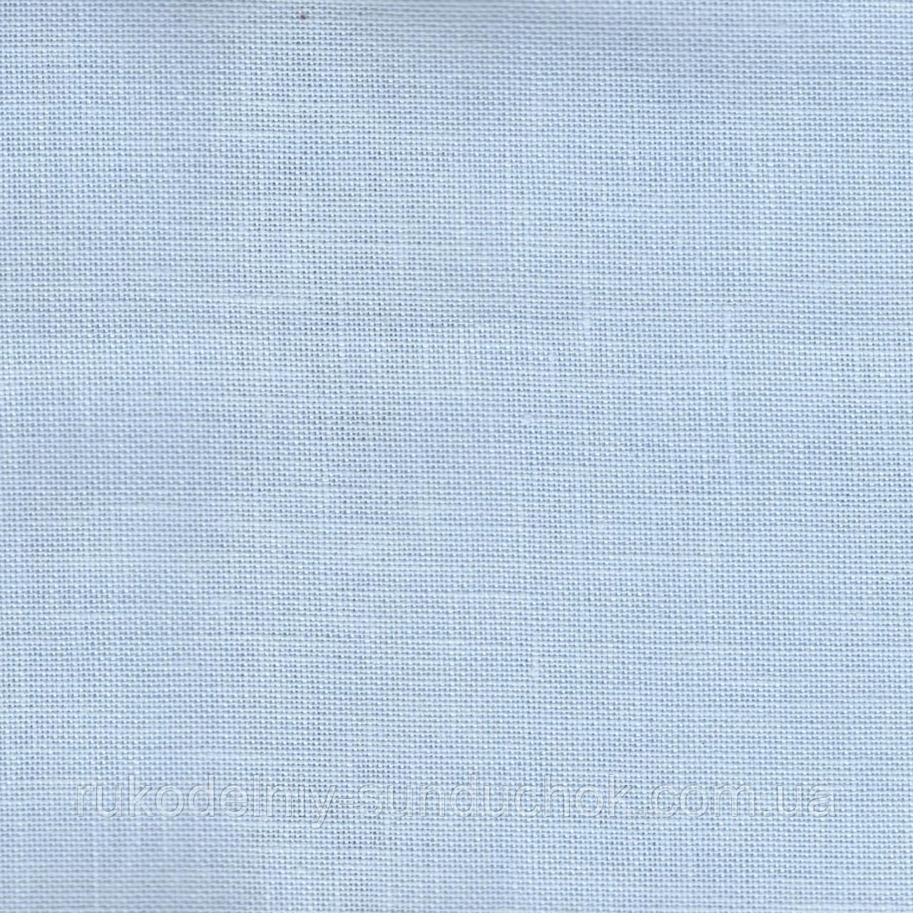 Ткань равномерного переплетения Zweigart Belfast 32 ct. 3609/562 Ice Blue (голубой лед)