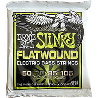 Струны Ernie Ball 2812 Cobalt Slinky Flatwound Bass 50-105