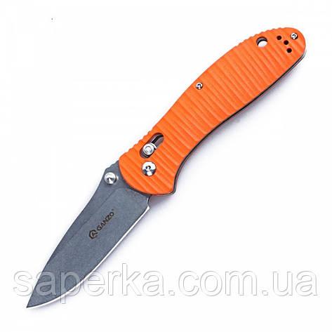 Нож Ganzo (оранжевый, черный) G7392P-OR, фото 2