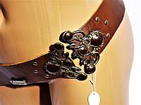 Ремень кожаный  широкий женский Fracomina Италия коричневый