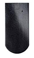 Чёрный хрусталь (глазурованная). Модель Опал - керамическая черепица Braas (Брас)