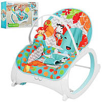 Шезлонг-кресло-качалка Bambi M 3249 (аналог Fisher-Price)