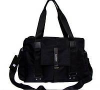 Спортивная сумка из нейлона. Черная