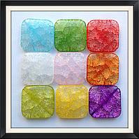 Бусины Crackle Ромб плоский 3,5*3,5*0,6 см