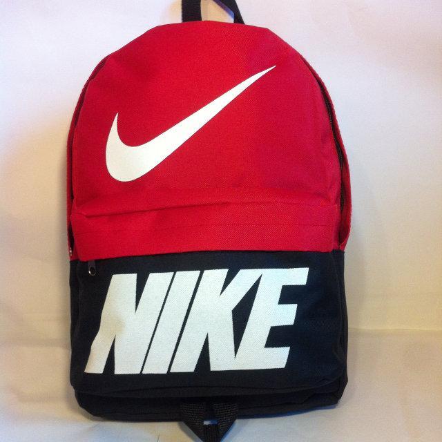 Рюкзак молодіжний Nike, Найк чорний з червоним ( код: IBR072BR )