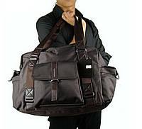 Спортивная сумка из нейлона. Коричневая