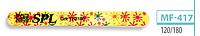 Пилочка для ногтей SPL MF-417, 120/120, 180/180, овальная с рисунком тонкая 120/180