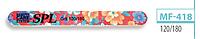 Пилочка для ногтей SPL MF-418, 120/120, 180/180, овальная с рисунком тонкая 120/180