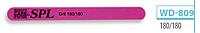 Пилочка для ногтей SPL WD-809, 120/120, 180/180, овальная с рисунком тонкая 120/180