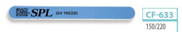 Пилочка для ногтей SPL CF-633, овальная с рисунком 150/220