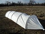Парник Presto-PS Мини теплица длинна 6 м. плотность агроволокна 60 г/м ширина парника 80 см высота 120 см, фото 3