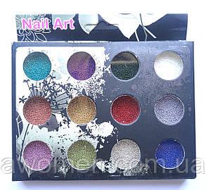 Бульонки для нігтів (12 кольорів)