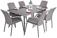 Садовая мебель из искуственного ротанга Kuah стол и 6 стульев
