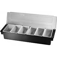 Барный контейнер ящик для фруктов 6 секции 50х10 cм