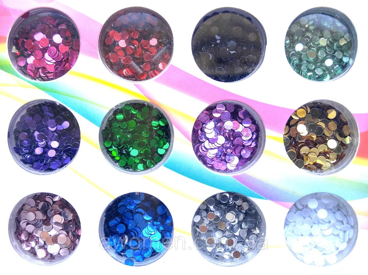 Набор конфетти- камифубуки цветные 12 цветов (коробка)