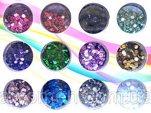 Набір конфетті - камифубуки кольорові 12 кольорів (коробка)