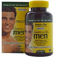 Nature's Plus, Source of Life, Men, комплекс витаминов, аминокислот  и экстрактов для мужчин, 120 табл