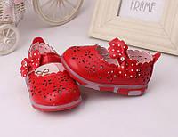 Летние туфли-мигалки для девочки дышащие  13 см, фото 1